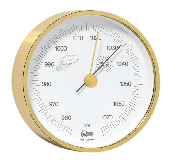 Barometer im Messingrahmen