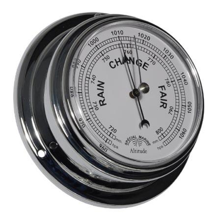 Schiffsbarometer im Chromgehäuse