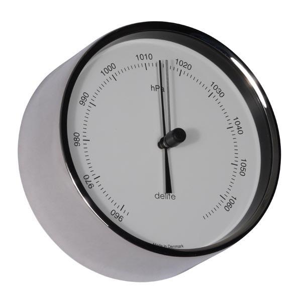 Clausen Barometer Edelstahl poliert