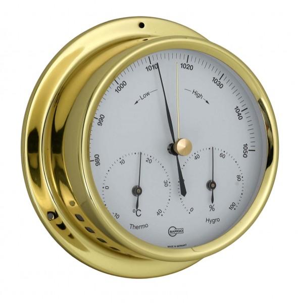 Barigo Barometer Regatta Thermometer Hygrometer Messing 120mm