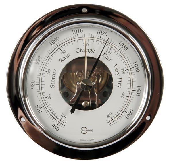 Schiffsbarometer analog, verchromt