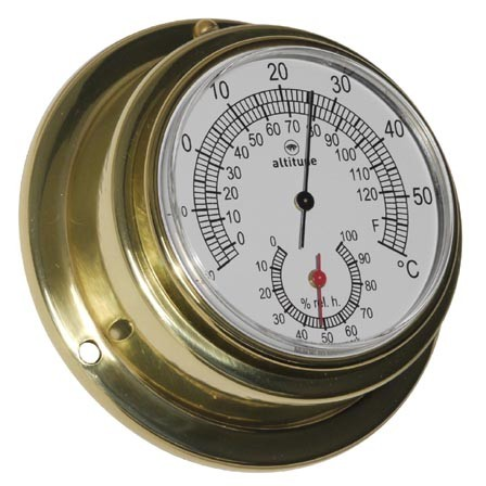 Altitude Thermometer Hygrometer 842TH messing Ø95mm