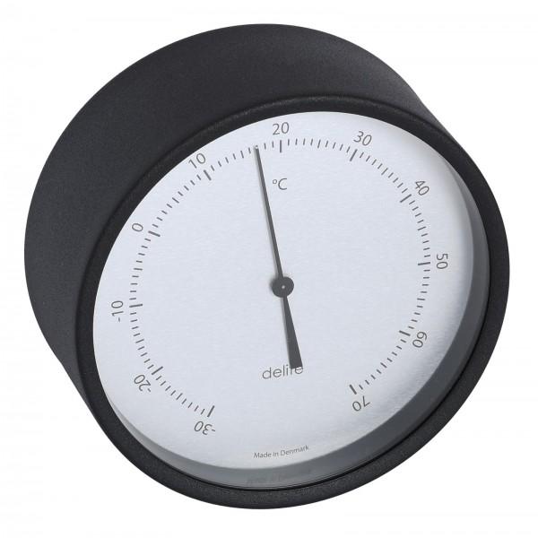 Clausen Thermometer Edelstahl schwarz lackiert 100mm