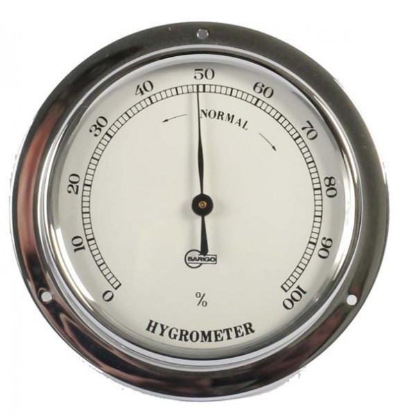 Hygrometer im verchromten Messinggehäuse