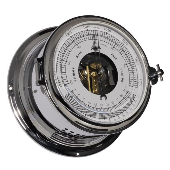 Schiffsbarometer und Hygrometer im Chromgehäuse