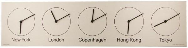 Weltzeituhr Five-O-Clock