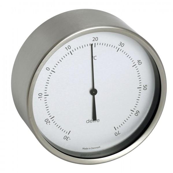 ClausenThermometer Edelstahl gebürstet 100mm