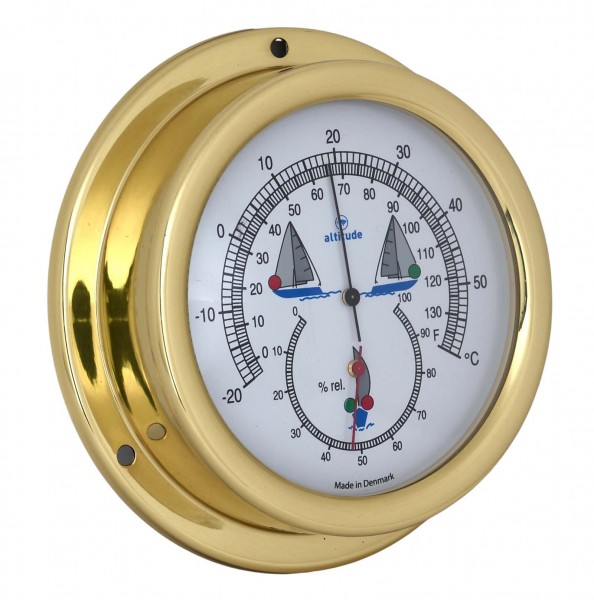 Altitude Thermometer / Hygrometer 858NLTH Messing 125mm