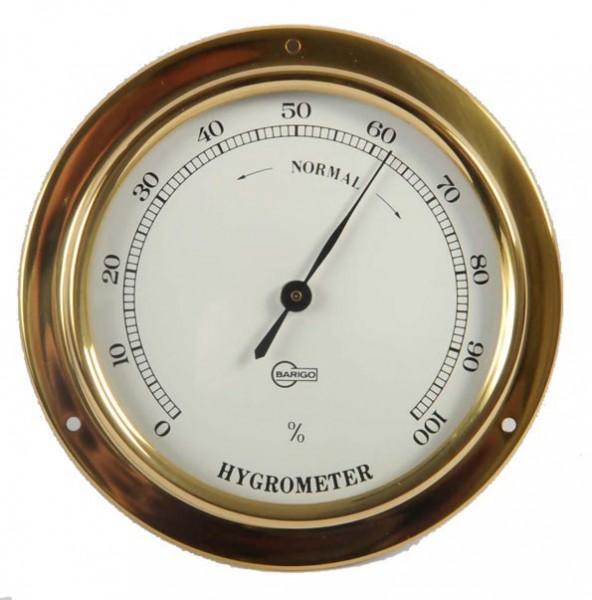 Hygrometer eingefasst in ein Messinggehäuse
