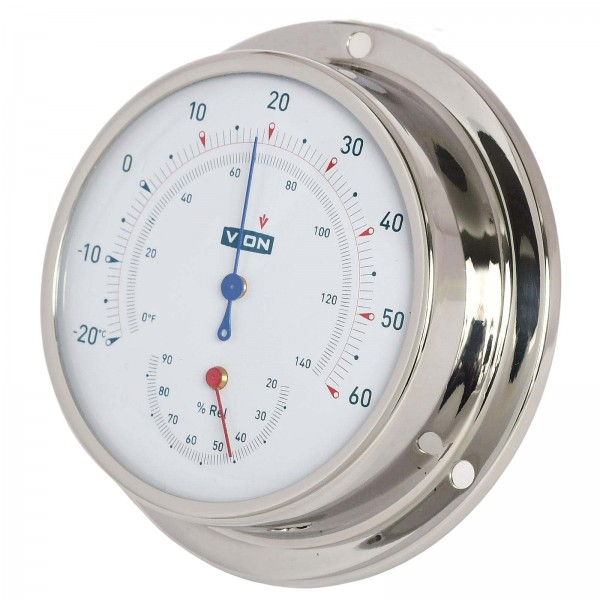 Vion Thermo/Hygrometer A080 TH chrom Ø97mm