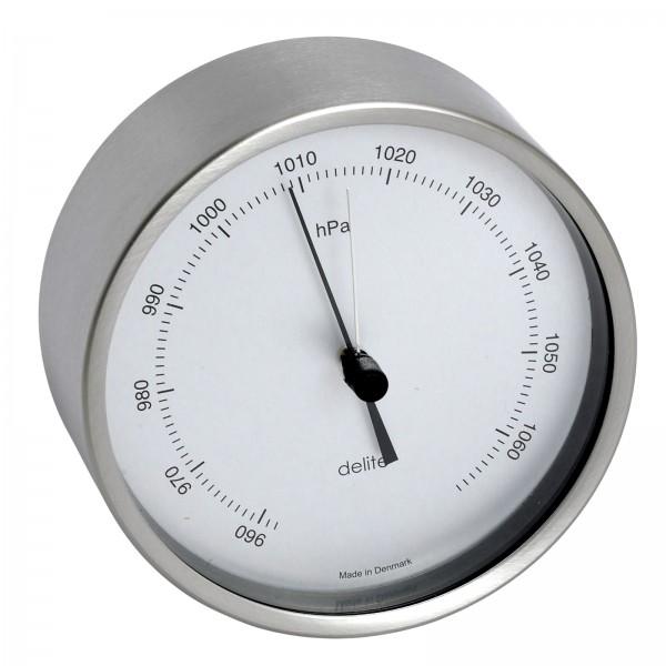 Clausen Barometer Edelstahl gebürstet 100mm