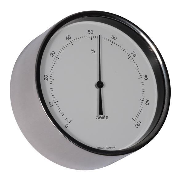 Clausen Hygrometer poliert Edelstahl