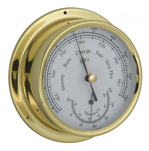 Barigo Barometer Thermometer Messing 120mm 1861ms