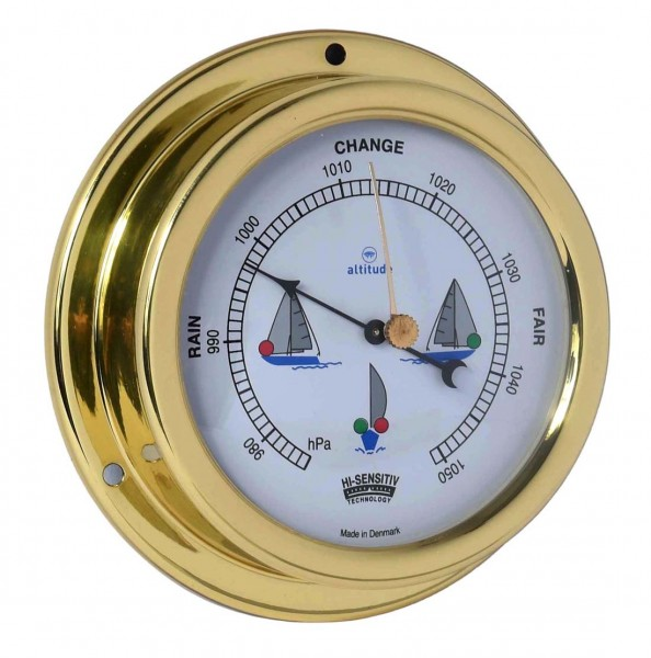 Altitude Barometer 858NLB Messing 125mm