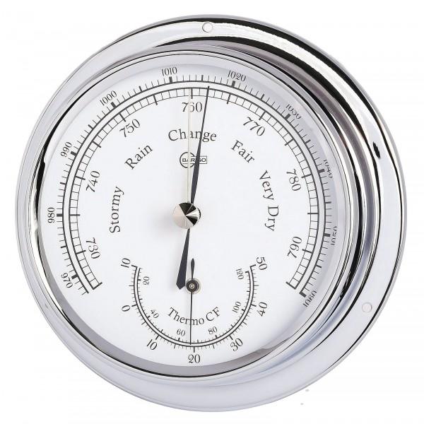Barigo Barometer Thermometer Regatta chrom 120mm