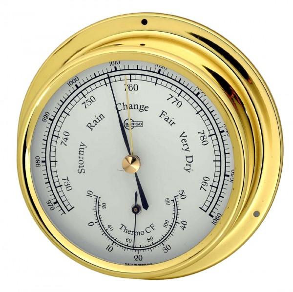 Barigo Barometer Thermometer Regatta messing 120mm