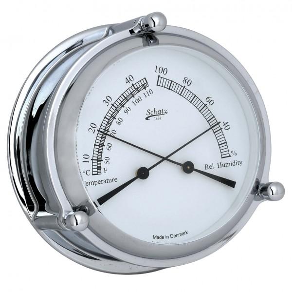 Schatz Mini Ocean Thermometer Hygro Chrom 107mm
