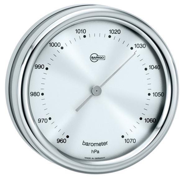 Barometer im Edelstahlgehäuse