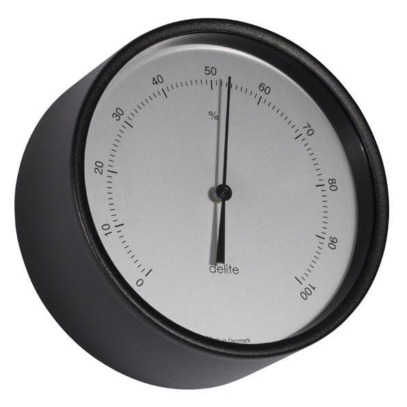 Clausen Hygrometer Edelstahl schwarz lackiertØ100mm