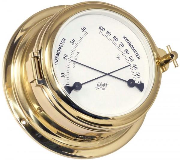 Schatz Thermometer / Hygrometer Midi Messing 155mm