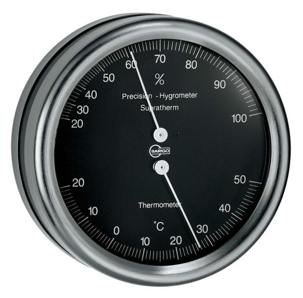 Barigo Orion Thermometer Hygrometer schwarz 100mm