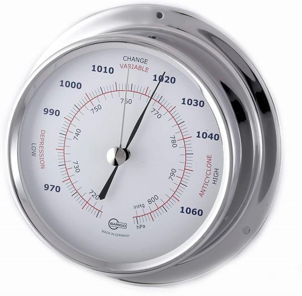 Barigo Regatta Edelstahl Barometer 120mm