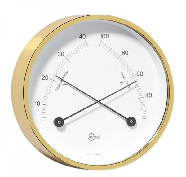 Thermometer und Hygrometer im Messinggehäuse