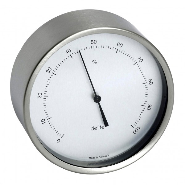 Clausen Hygrometer Edelstahl gebürstet 100mm