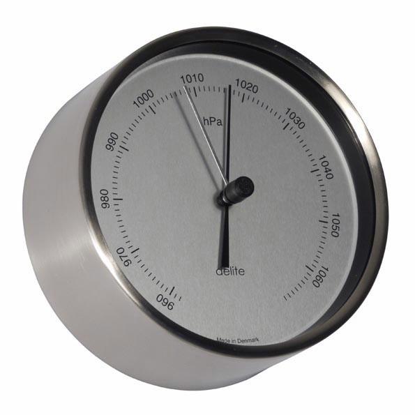Clausen Barometer gebürsteter Edelstahl