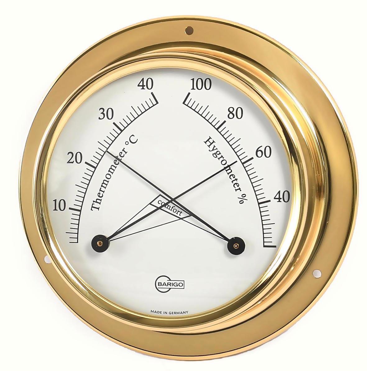 thermometer und hygrometer im messinggeh use pamperin travem nde. Black Bedroom Furniture Sets. Home Design Ideas
