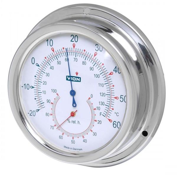 Vion Thermo/Hygrometer A100 TH chrom Ø129mm