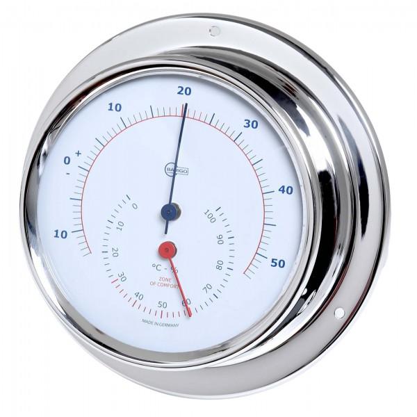 Barigo Sky Thermometer / Hygrometer Edelstahl poliert Ø110mm