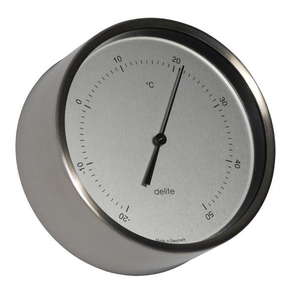 Clausen Thermometer gebürsteter Edelstahl