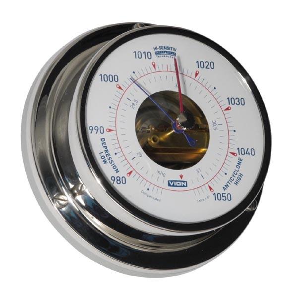 Yachtbarometer Edelstahl poliert