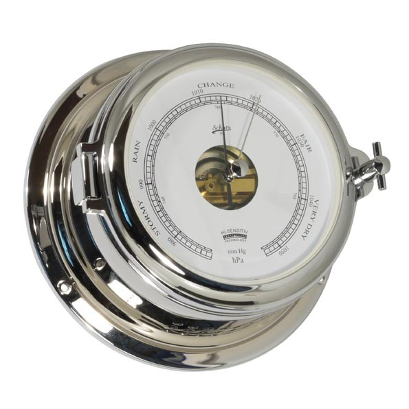 Barometer im verchromten Messinggehäuse