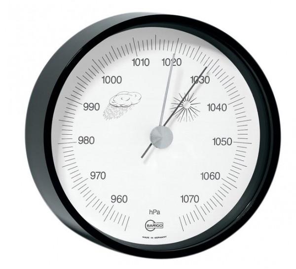 Barometer im schwarzlackierten Messinggehäuse