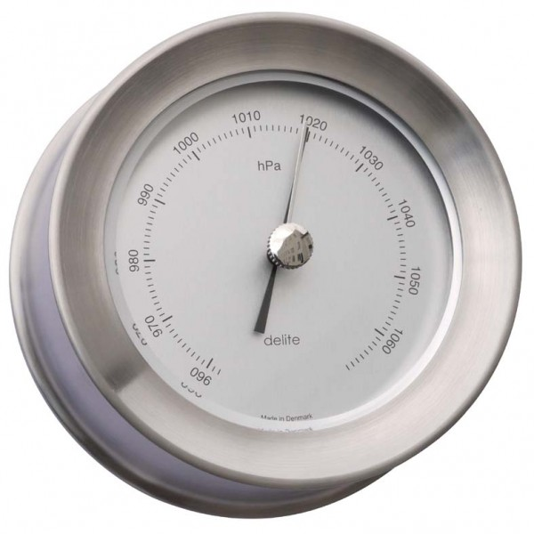 Delite Zealand Barometer Edelstahl gebürstet